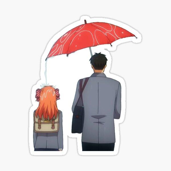 nozaki and Chiyo umbrella Sticker