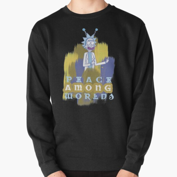 Peace Among Worlds Rick and Morty Pullover Sweatshirt