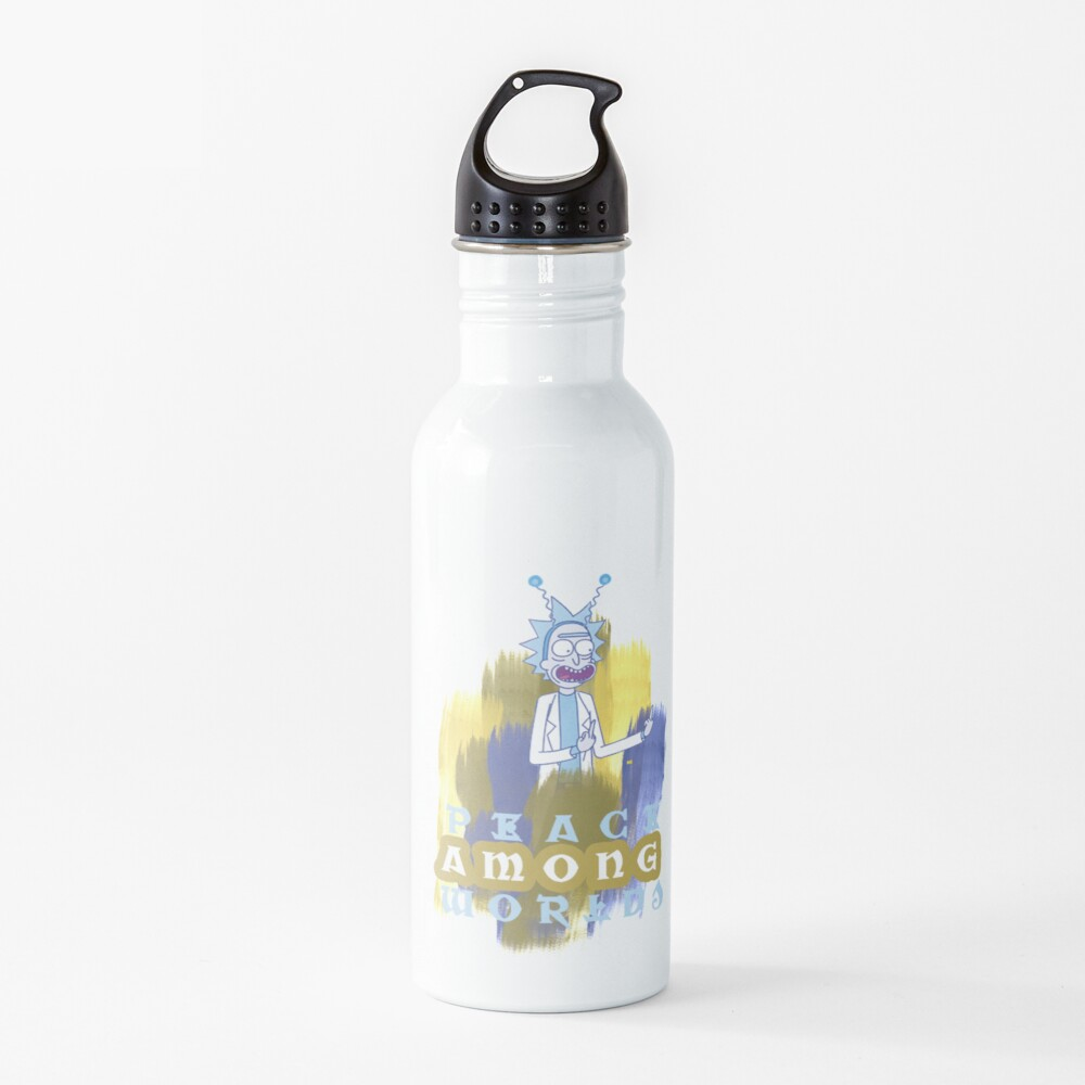 Peace Among Worlds Rick and Morty Water Bottle