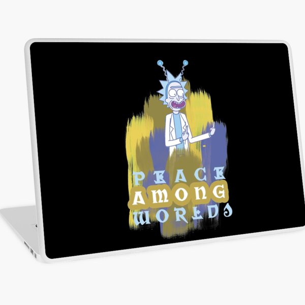 Peace Among Worlds Rick and Morty Laptop Skin