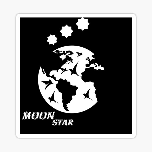 create your animated logo with our Moon Star logo template! Trending element for branding ! ana & yvy Sticker