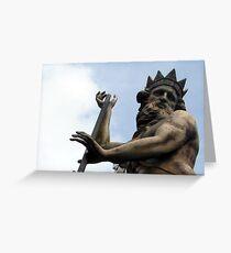 149 - NEPTUNE STATUE, DURHAM (D.E. 2012) Greeting Card