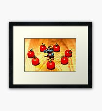 Suddenly the Cowboy was surrounded by Redskins Framed Print