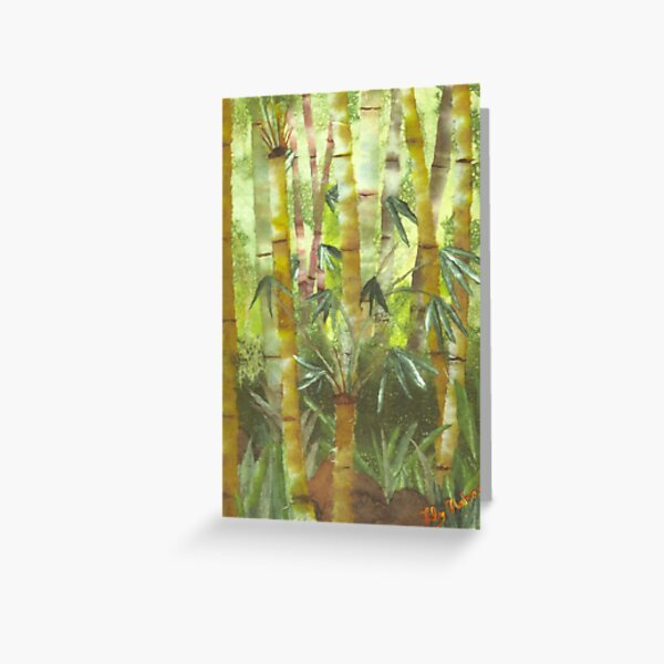 Bamboo in Nuuanu Greeting Card