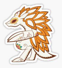 Sandslash Pokemuerto | Pokemon & Day of The Dead Mashup Sticker