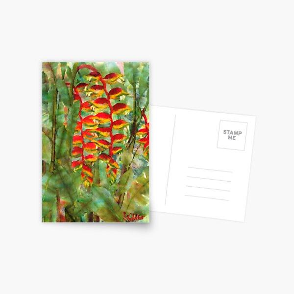 Hanging Haleconias Postcard