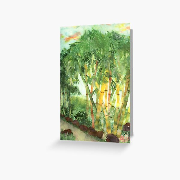 Bamboo in Chinatown Greeting Card