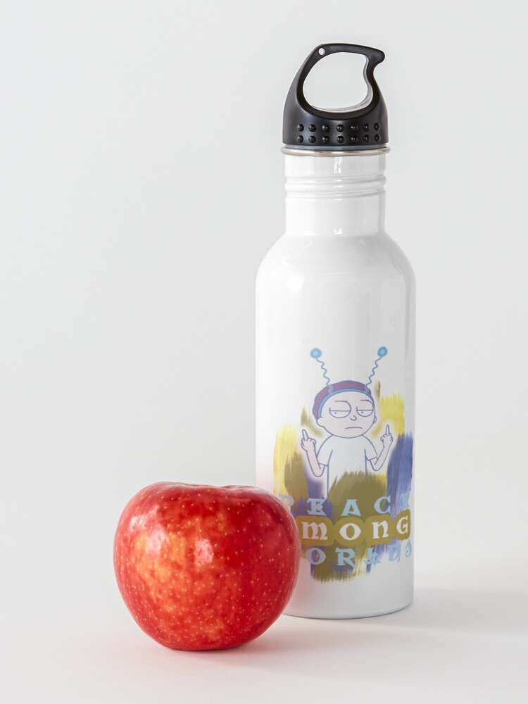 Alternate view of  Peace Among Worlds Rick and Morty Water Bottle
