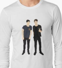 Dan and Phil Silhouettes Long Sleeve T-Shirt