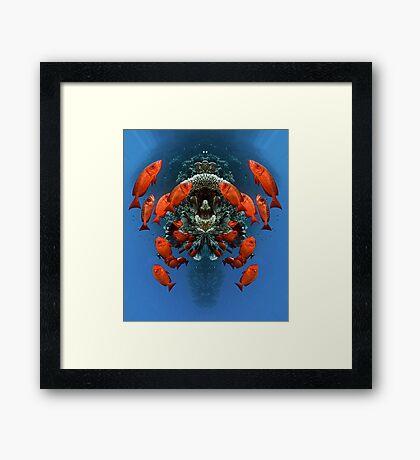 Digital Art - Underwater Framed Print