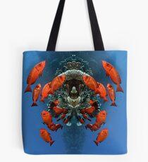 Digital Art - Underwater Tote Bag