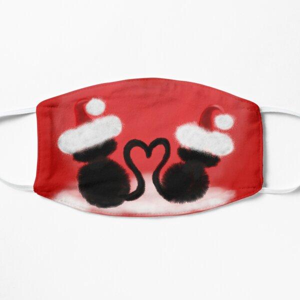 Weihnachtskatzen mit Herz Flache Maske