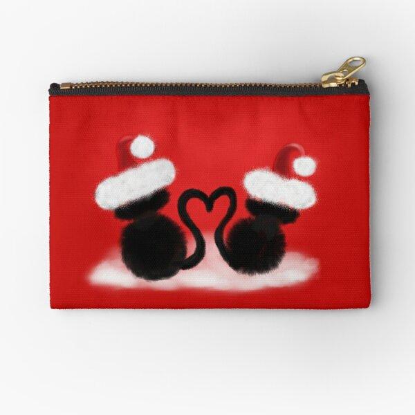 Weihnachtskatzen mit Herz Täschchen