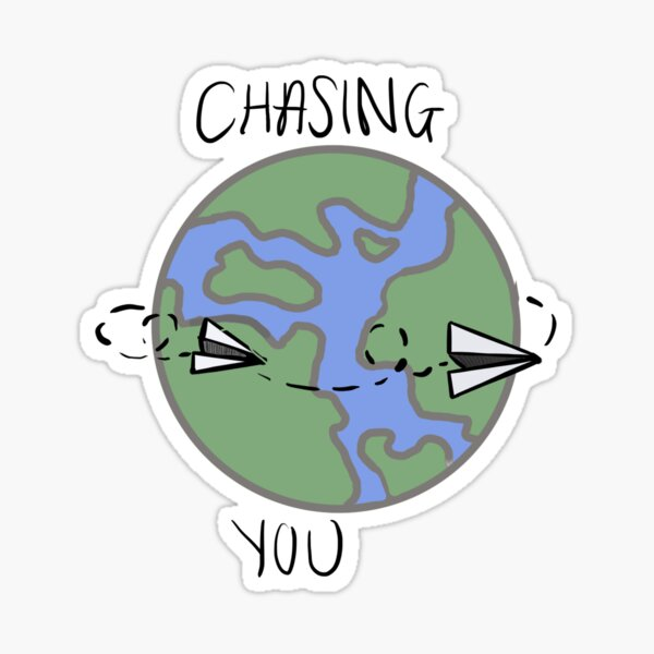 chasing you Sticker