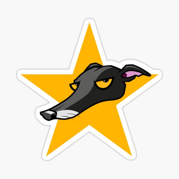 Black Hound Star Sticker