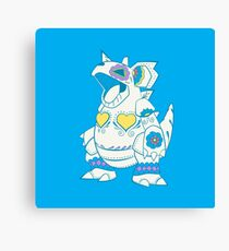 Nidoqueen Pokemuerto | Pokemon & Day of The Dead Mashup Canvas Print