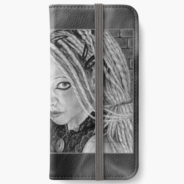 Stormbringer: Original drawing by Dean Sidwell iPhone Wallet
