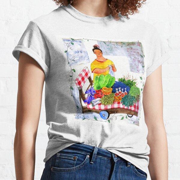 market vegetable vendor illustration by robert alejandro Classic T-Shirt