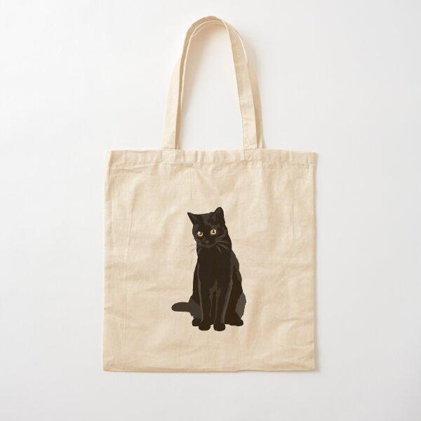 Black Cat Cotton Tote Bag