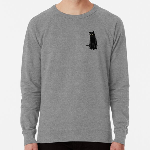 Black Cat Lightweight Sweatshirt