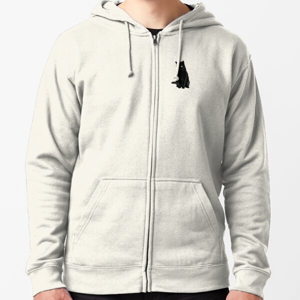 Black Cat Zipped Hoodie