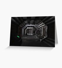 sci-fi corridor Greeting Card