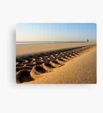 Beach Tyre Canvas Print