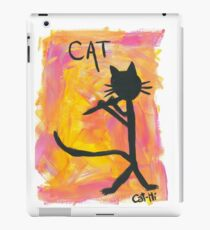 Kitty silhouette playing flute iPad Case/Skin