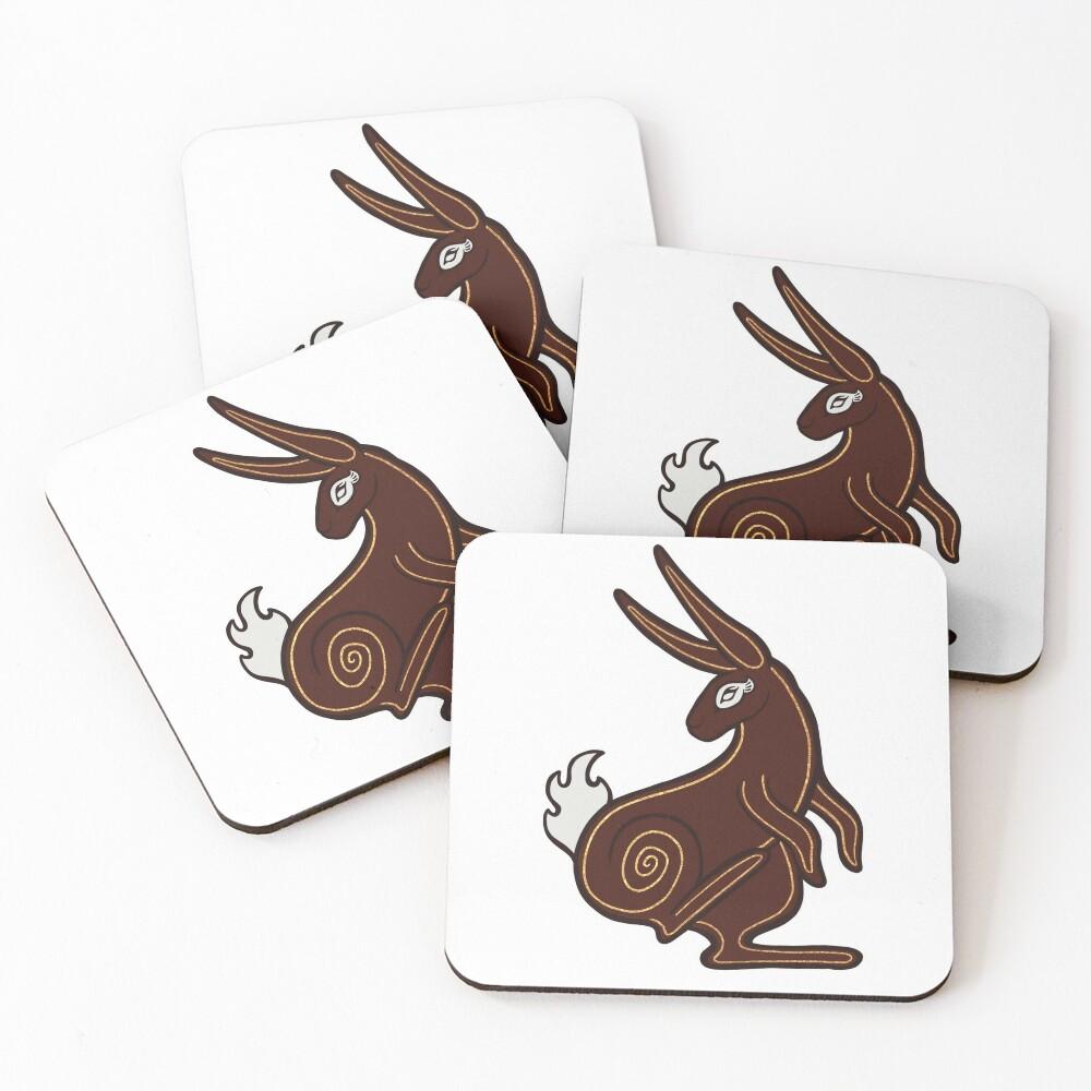 El-Ahrairah, Prince of the Rabbits - Watership Down Fan Art Coasters (Set of 4)