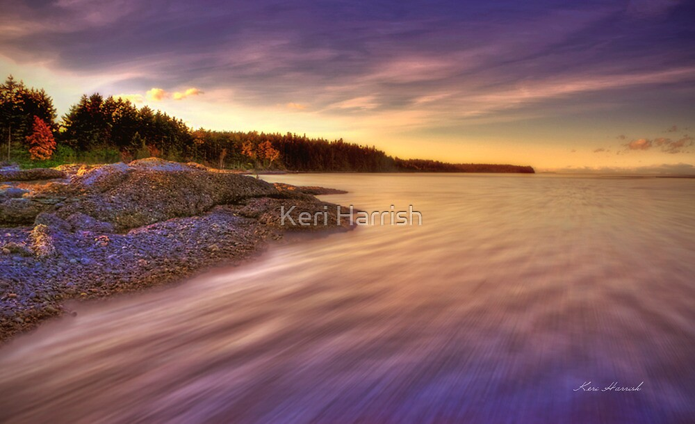 Denman Island Sunset by Keri Harrish