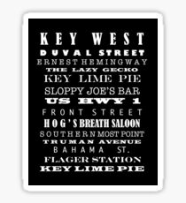 Key West Subway Art Sticker