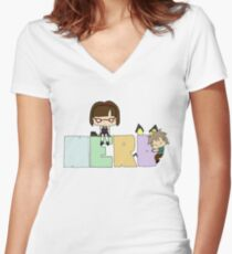 NERDs Are Cool Women's Fitted V-Neck T-Shirt