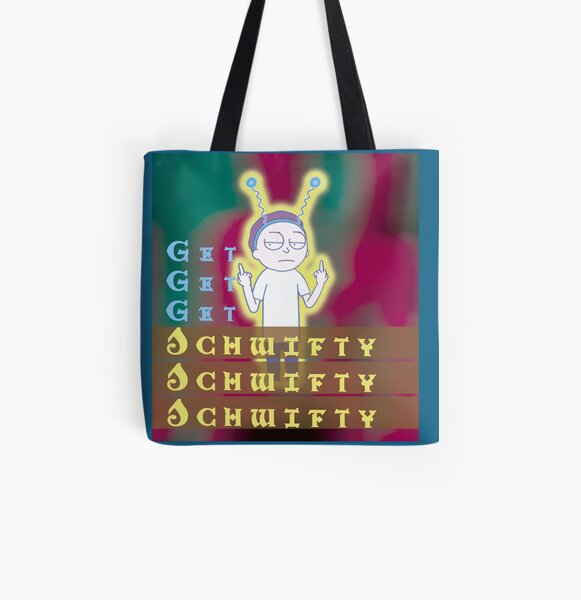 Get schwifty Rick and Morty All Over Print Tote Bag