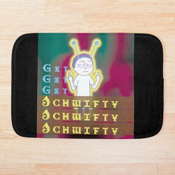 Get schwifty Rick and Morty Bath Mat