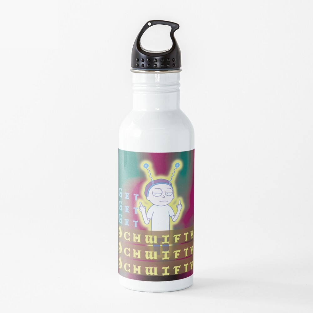 Get schwifty Rick and Morty Water Bottle