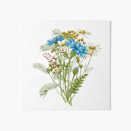 Wildflowers & Gardenflowers Art Board Print