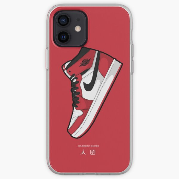 Jordan 1 Chicago Red BG Funda blanda para iPhone
