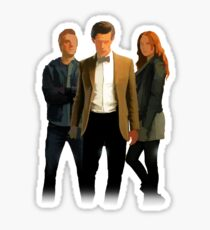 The Doctor and The Ponds Sticker