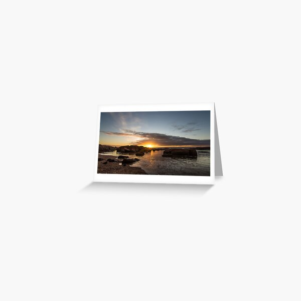Coles Bay Sunset Greeting Card