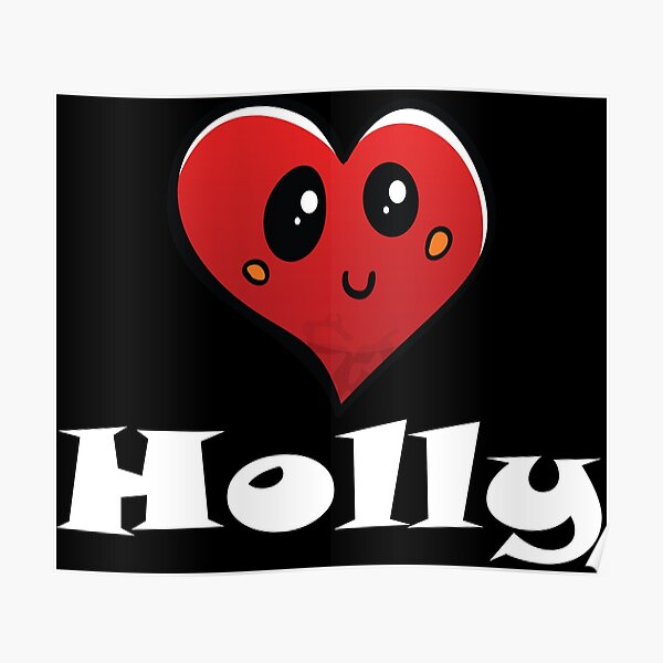 Holly Heart Poster