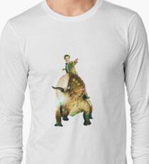 Dinosaurs On A Spaceship Long Sleeve T-Shirt