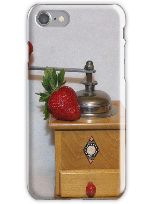 Strawberry Coffee [iPhone - iPod Case/Skin] by aprilann