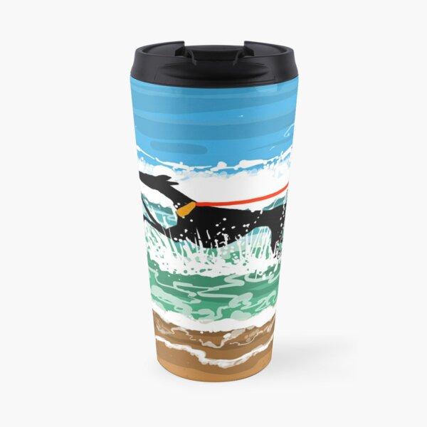 Running in the Sea Travel Mug