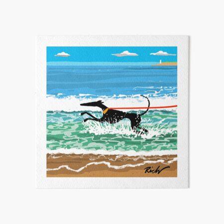 Running in the Sea Art Board Print