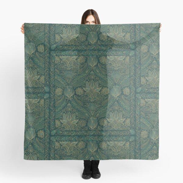 green gold art nouveau decadent stylish pattern Scarf