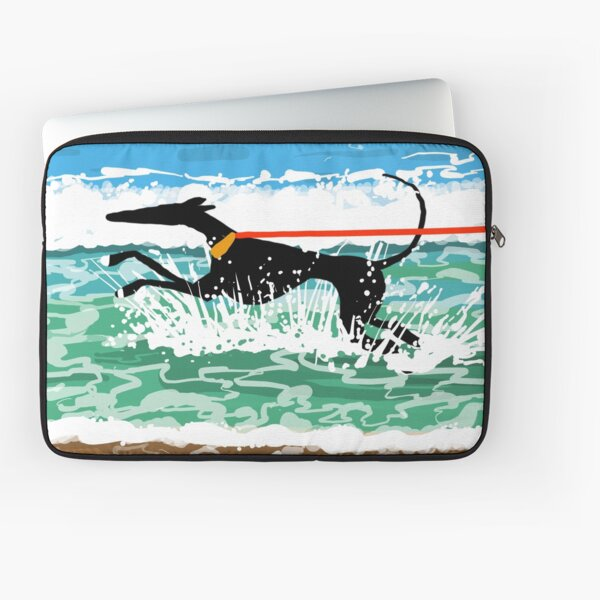 Running in the Sea Laptop Sleeve