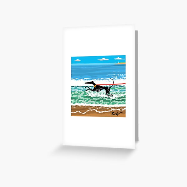 Running in the Sea Greeting Card