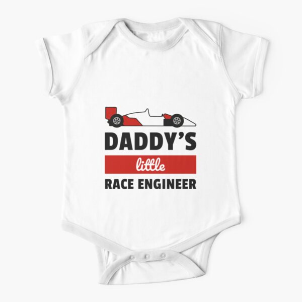 Matching Shirt for F1 Fans - little race engineer Short Sleeve Baby One-Piece