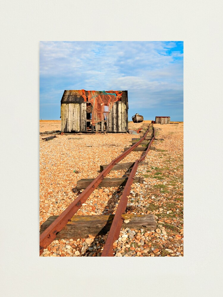 Alternate view of Old Rail Track (Dungeness) Photographic Print