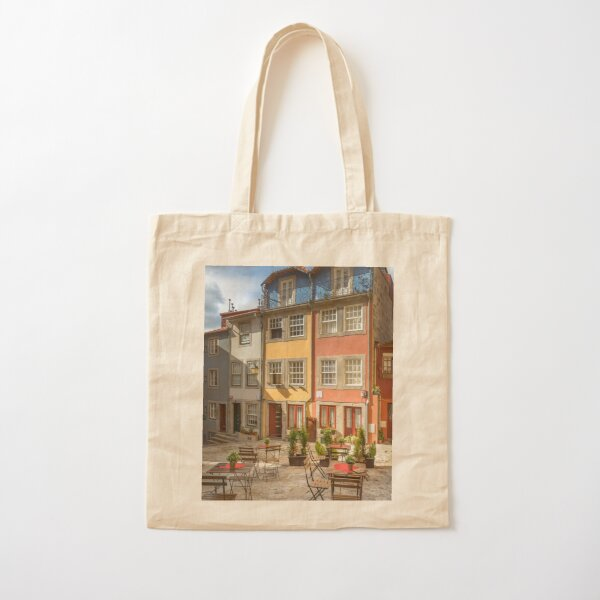 Porto room with a view Cotton Tote Bag